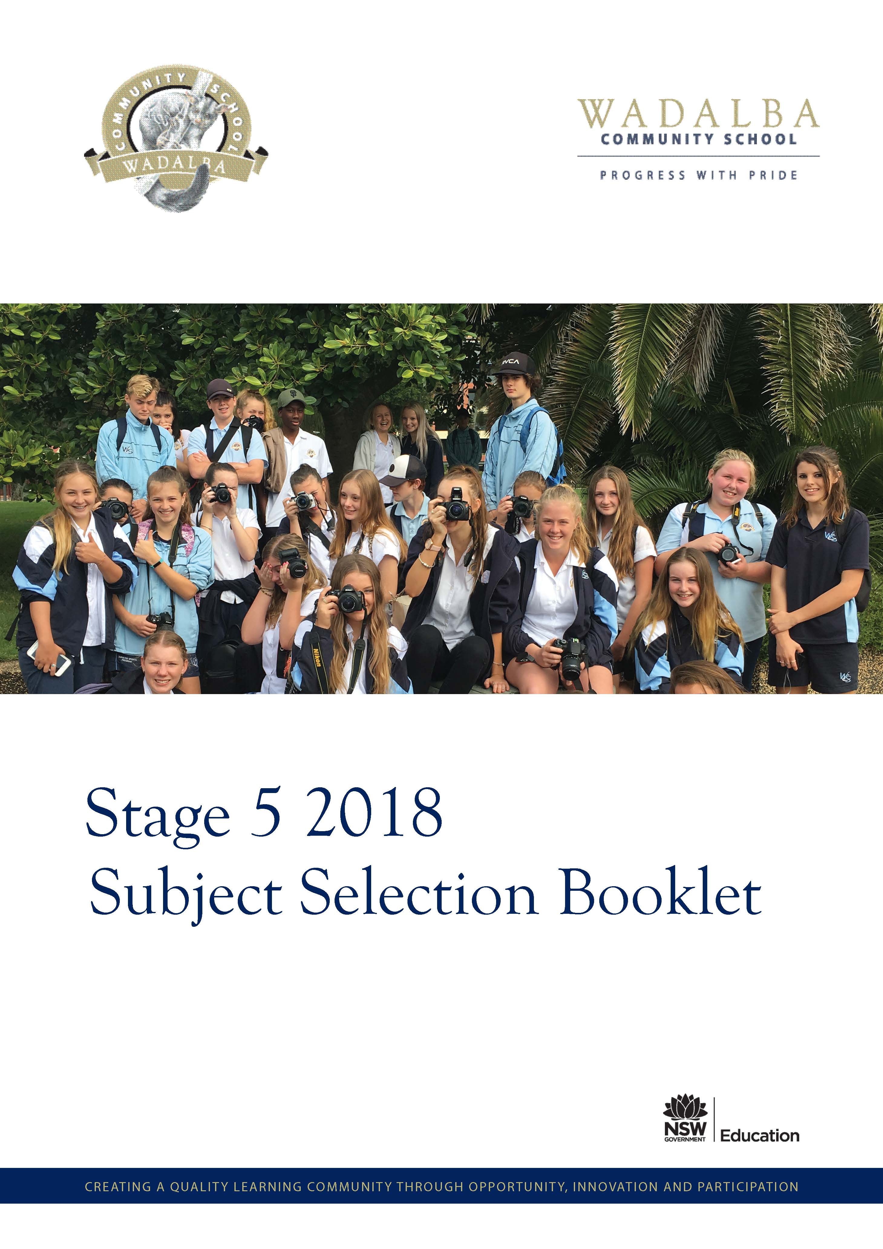 2018 WCS Stage 5 Subject Selection Handbook
