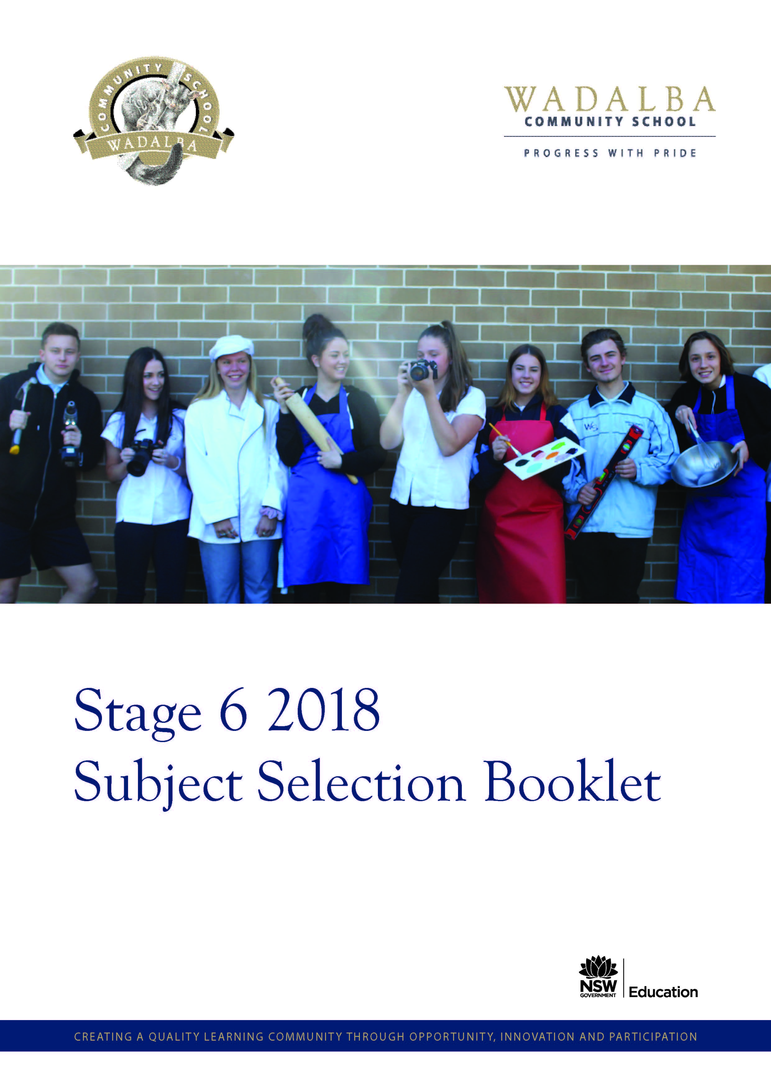 2018 WCS Stage 6 Subject Selection Handbook